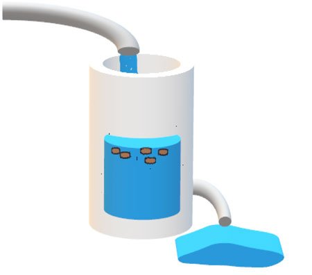 Residuos fecales con agua de mar